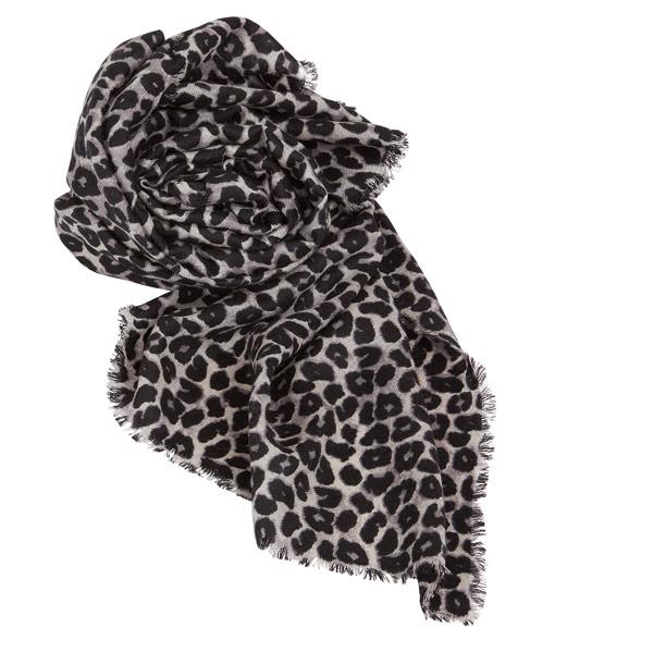 ACHTUNG; WILD: Schal mit grauem Leoparden-Muster von Max Mara